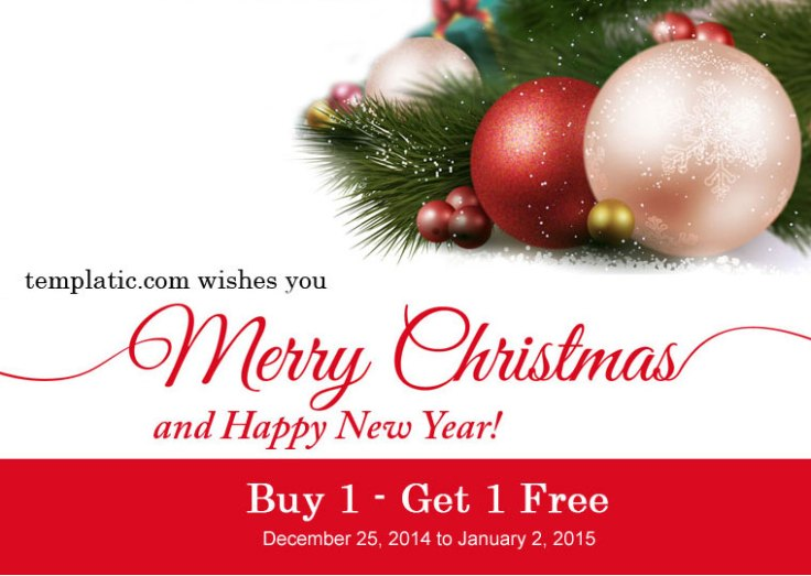Seasons greetings buy 1 get 1 free xmas sale templatic the 2014 has been an awesome year and with big plans to make web building simple and awesome for you in year 2015 christmas holidays has arrived and heres m4hsunfo