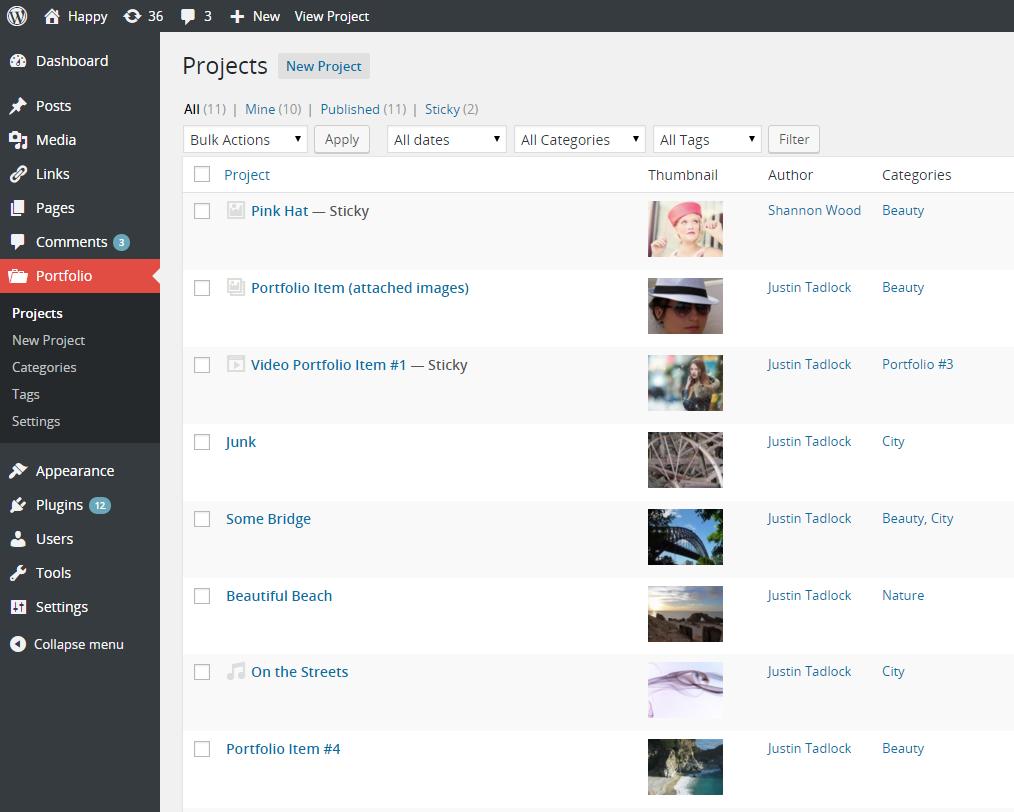 Custom Content Portfolio WordPress Plugin – The WordPress C