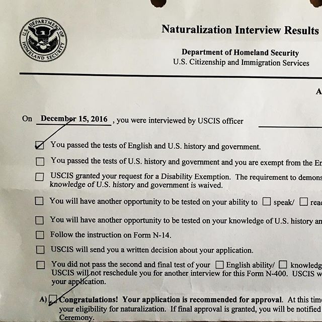 I Passed The Test And Interview Im Not An American Citizen