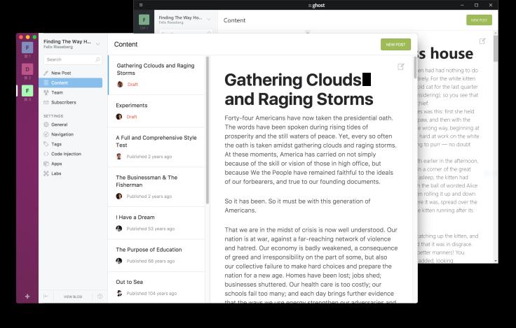 Ghost Desktop's JavaScript Underbelly – The WordPress C(h)ronicle
